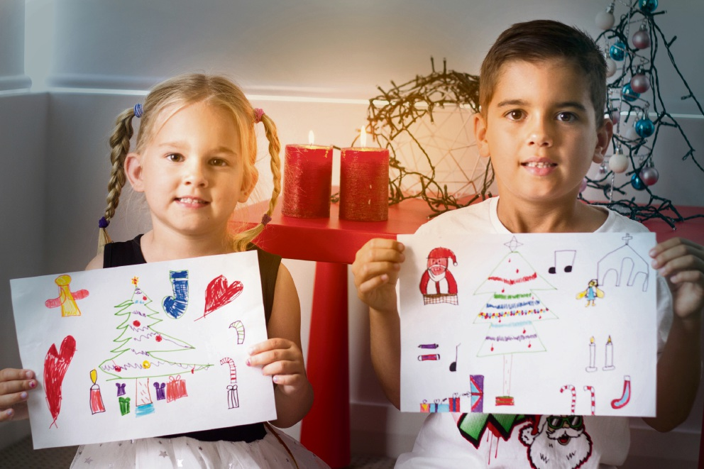 Nikita (5) and Luka (8) have entered a competition to lead this year's Christmas Pageant through Perth.
