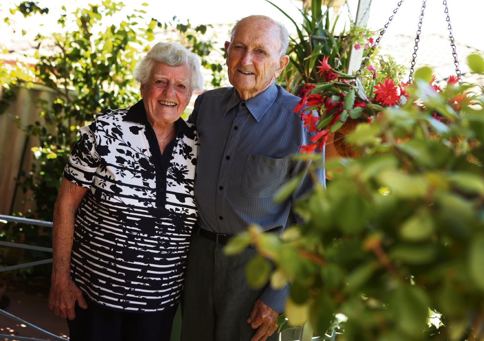 Violet and Thomas Hales are celebrating their 70th wedding anniversary. Picture: Matt Jelonek