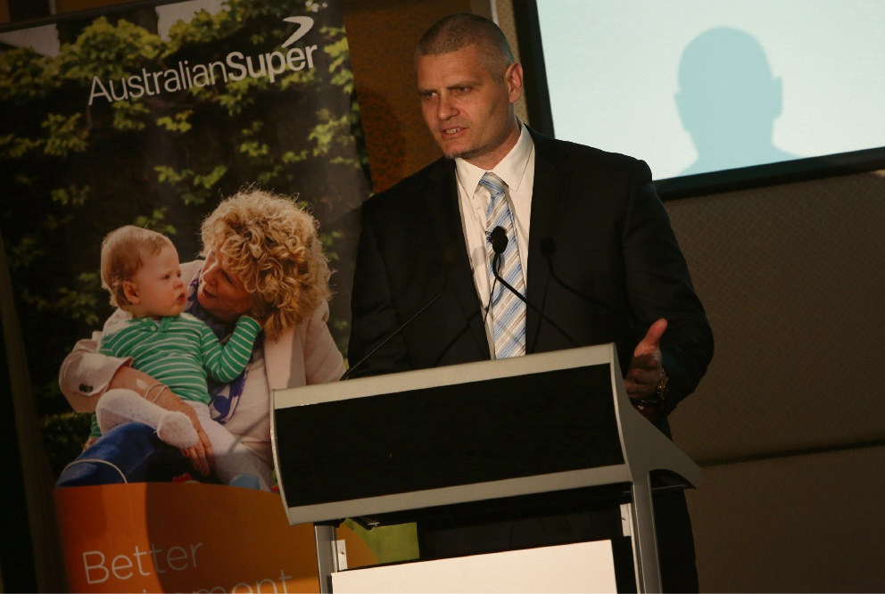 Guest speaker Micheal Kallis from AustralianSuper explained to the crowd how to boost their superannuation.
