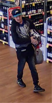 CCTV images of the two men Mundaring police would like to talk to in relation to theft and fraud.