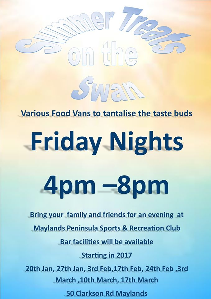 Summer Treats on the Swan at Maylands Sports and Recreation Centre