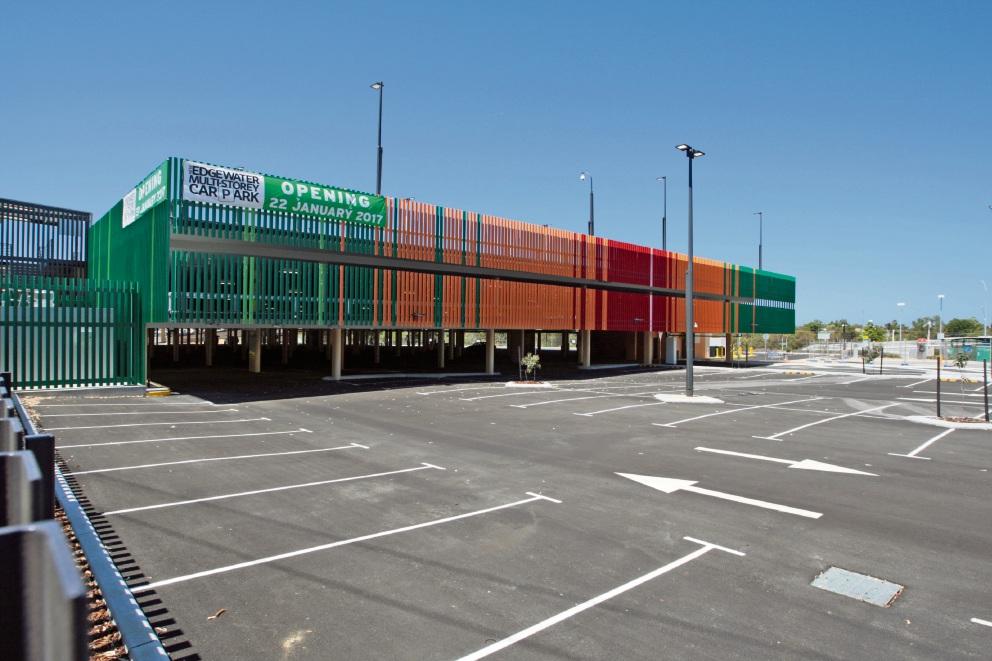 The Edgewater train station carpark.