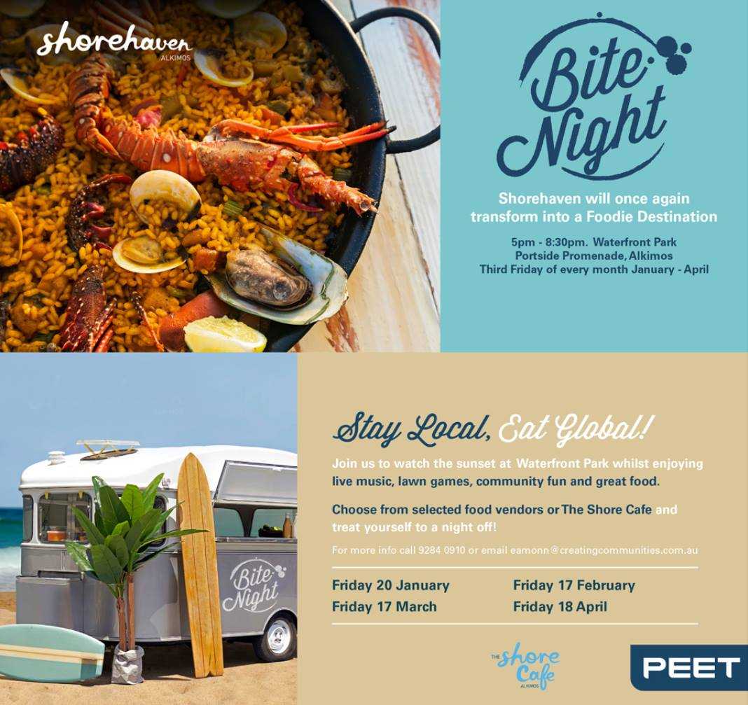 Bite Night at Shorehaven's Waterfront Park