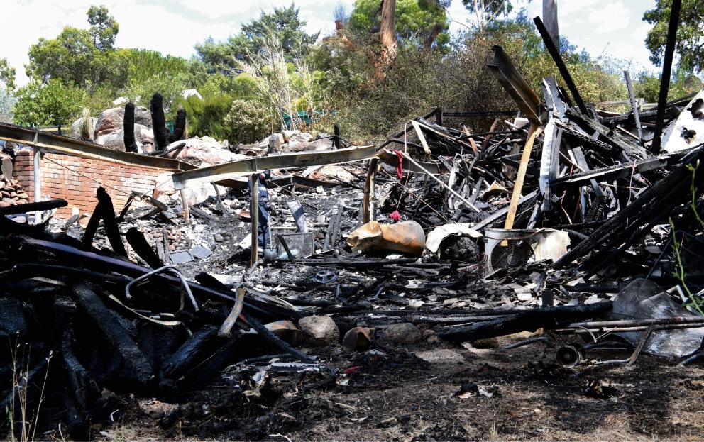 Fire tears through timber house in Boya