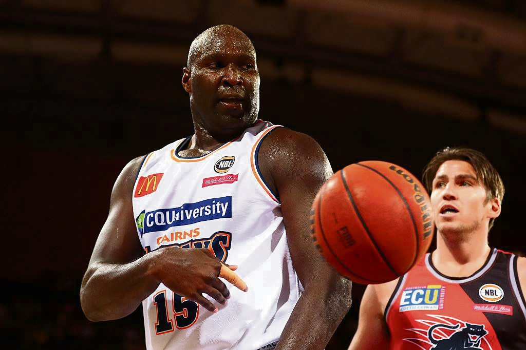 The Wildcats faced former teammate Nathan Jawai in a two-points loss to Cairns on Monday. Picture: Getty Images