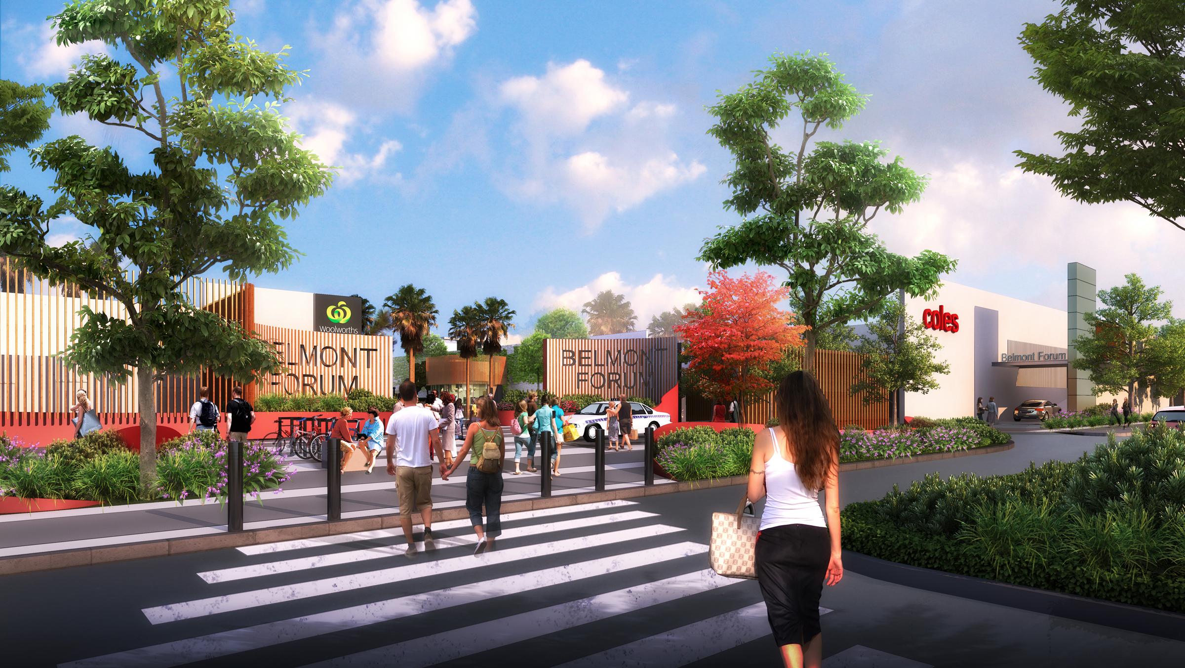 Artist's impression of Belmont Forum's planned fresh food precinct.