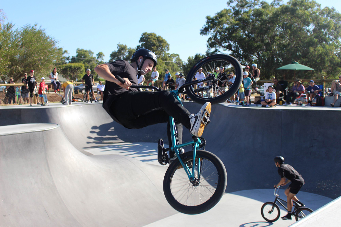 Skaters and BMX and scooter riders relished the opportunity to christen the new Wanneroo Skate Park. Picture: City of Wanneroo