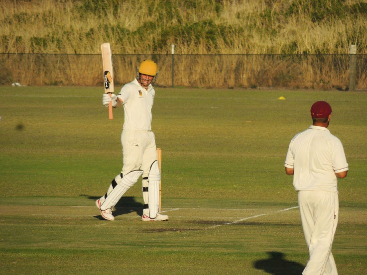 Mt Lawley District Cricket Club player James Newnham runs into the record books.