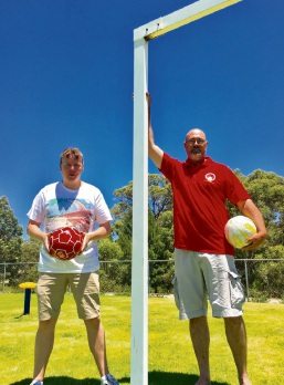 Baldivis FC founders Clint Chapman and Barry Wilders.