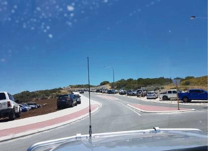 Overflow parking at Yanchep Lagoon. Picture: Alison Burfitt