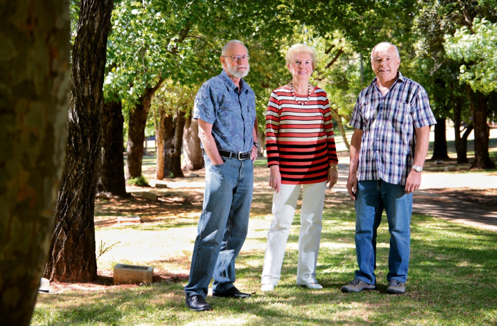 Members of the Save Kalamunda Shire Action Group: John Humphreys, Margot Harness and Rob McArthur are concerned over the push to change the status of the Shire. Picture: David Baylis        www.communitypix.com.au d463059