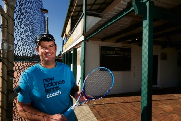 Bayswater Tennis Club coach Anthony Harbrow. Picture: Andrew Ritchie