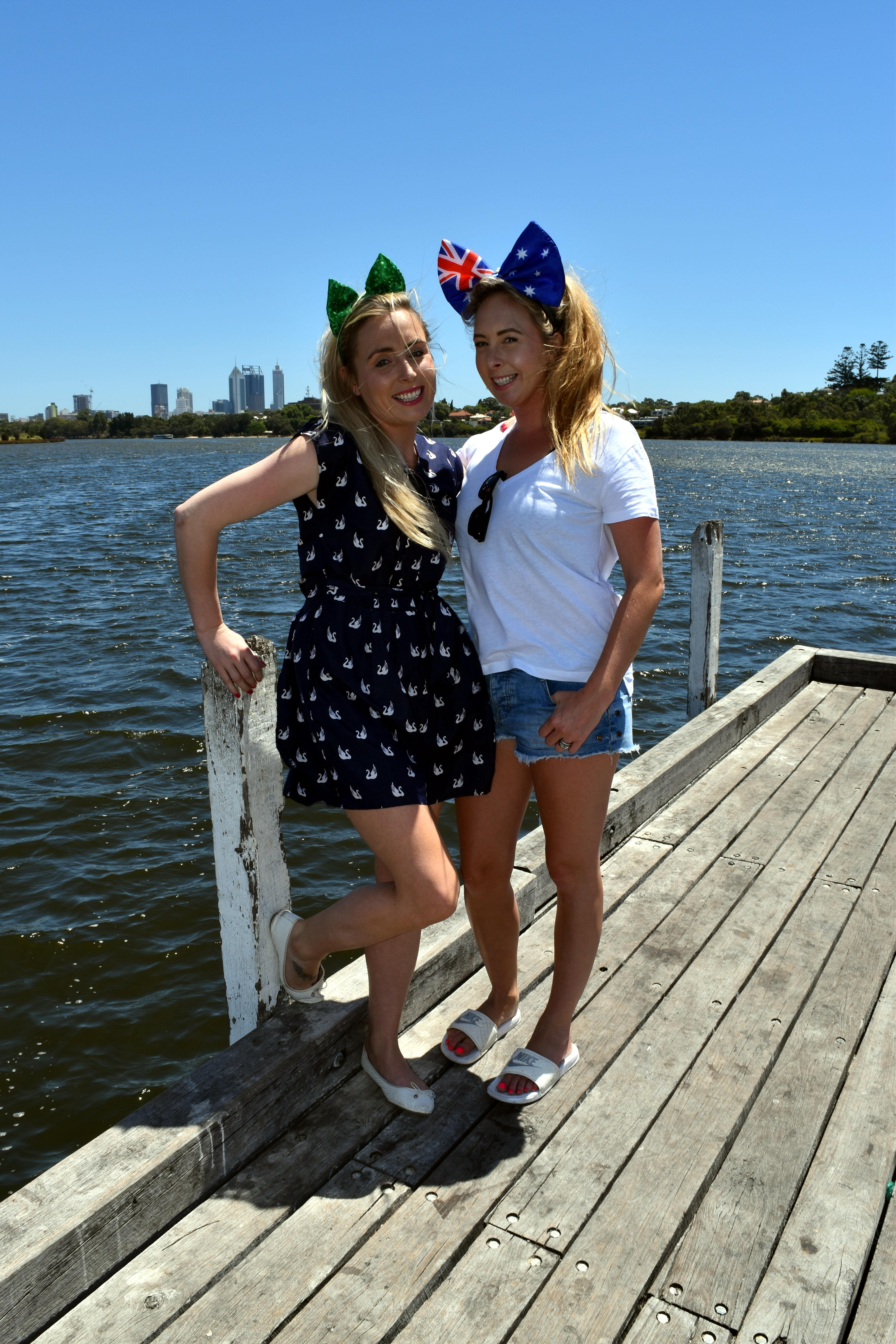 Caroline Quirke (left) with her sister Mary Quirke-Naughton. Mrs Quirke-Naughton and her husband Cathal are becoming Australian citizens.