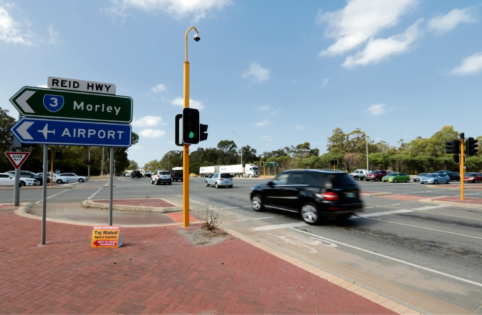 Intersection of Great Northern Hwy, Reid Hwy and Roe Highway in Middle Swan. Picture: David Baylis