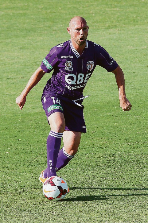 Steve McGarry playing for Perth Glory in 2014. Picture: Getty Images