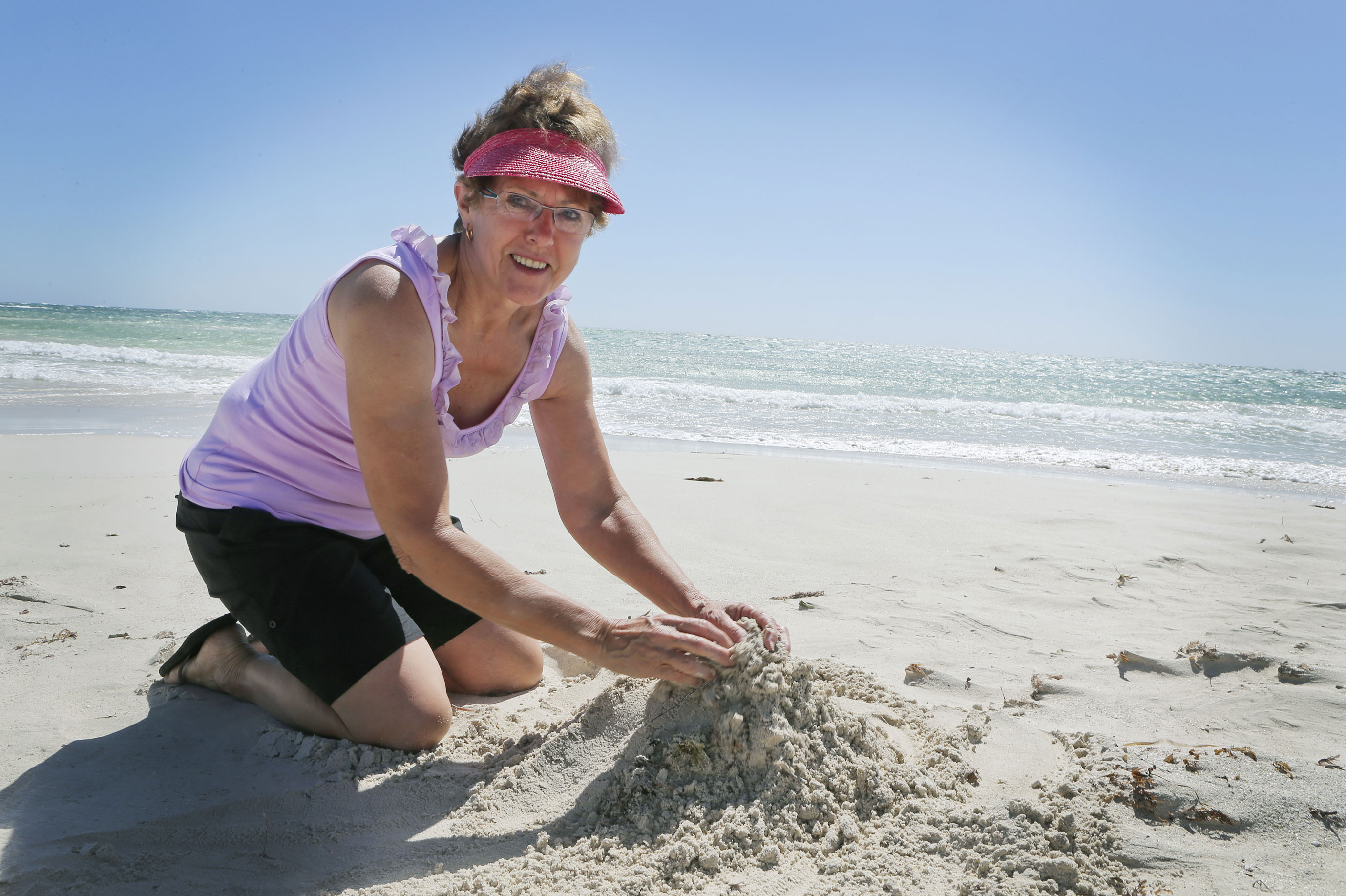 Sheryl Dempster is organising the annual sand castle competition