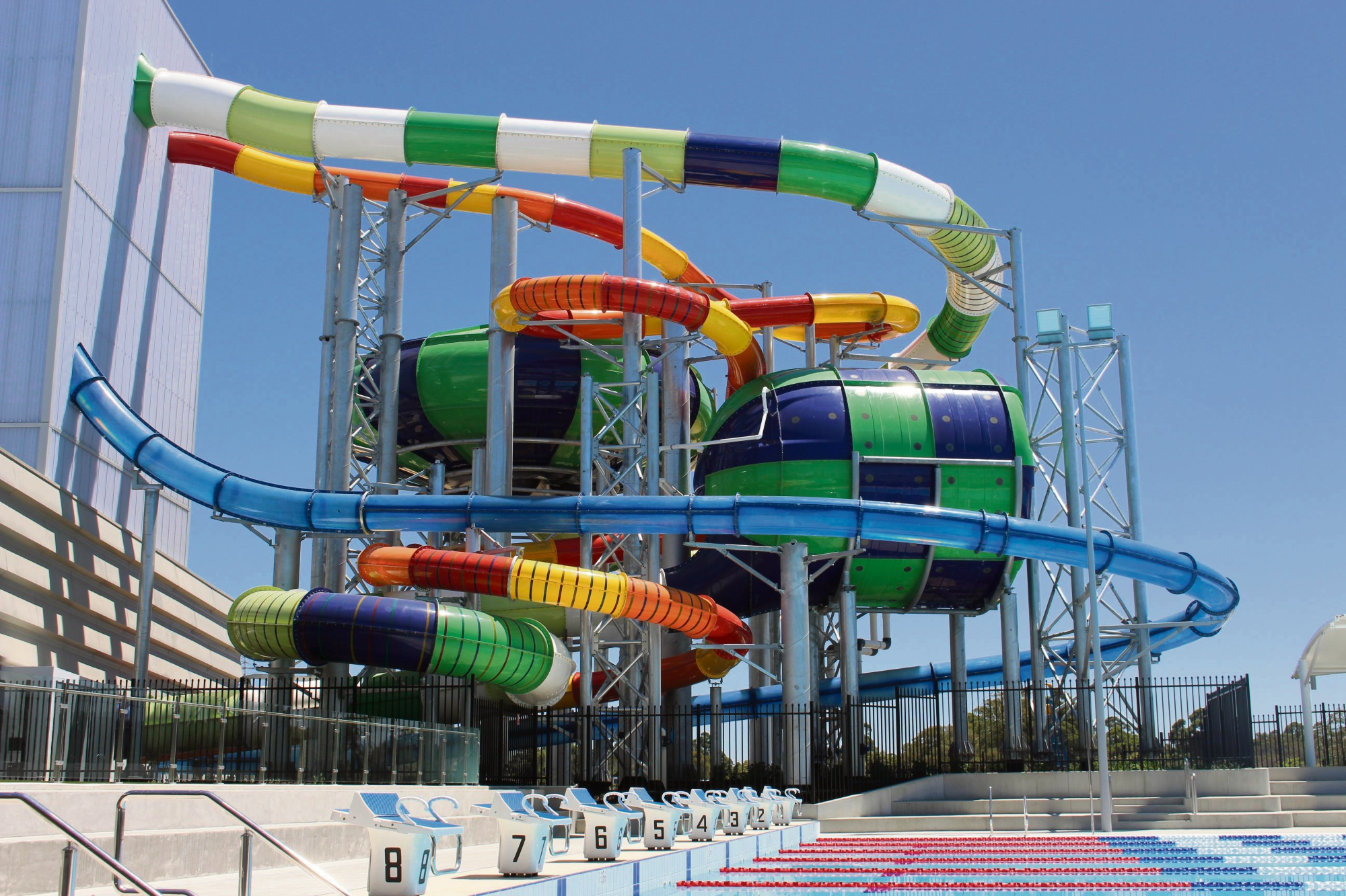 The waterslides which will be popular with thrill-seekers.
