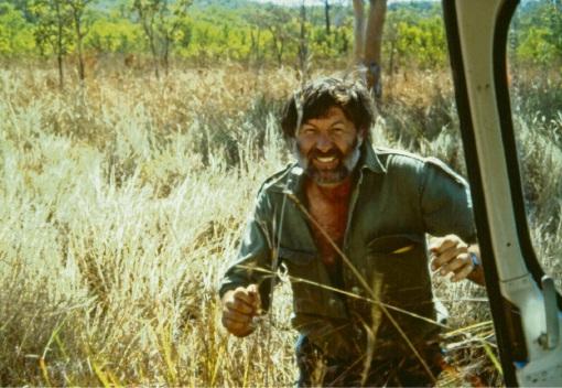 Norman McKenzie during a 1987 Kimberley rainforest survey.