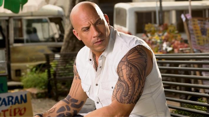 Diesel flexes his muscles in XXX: Return of Xander Cage