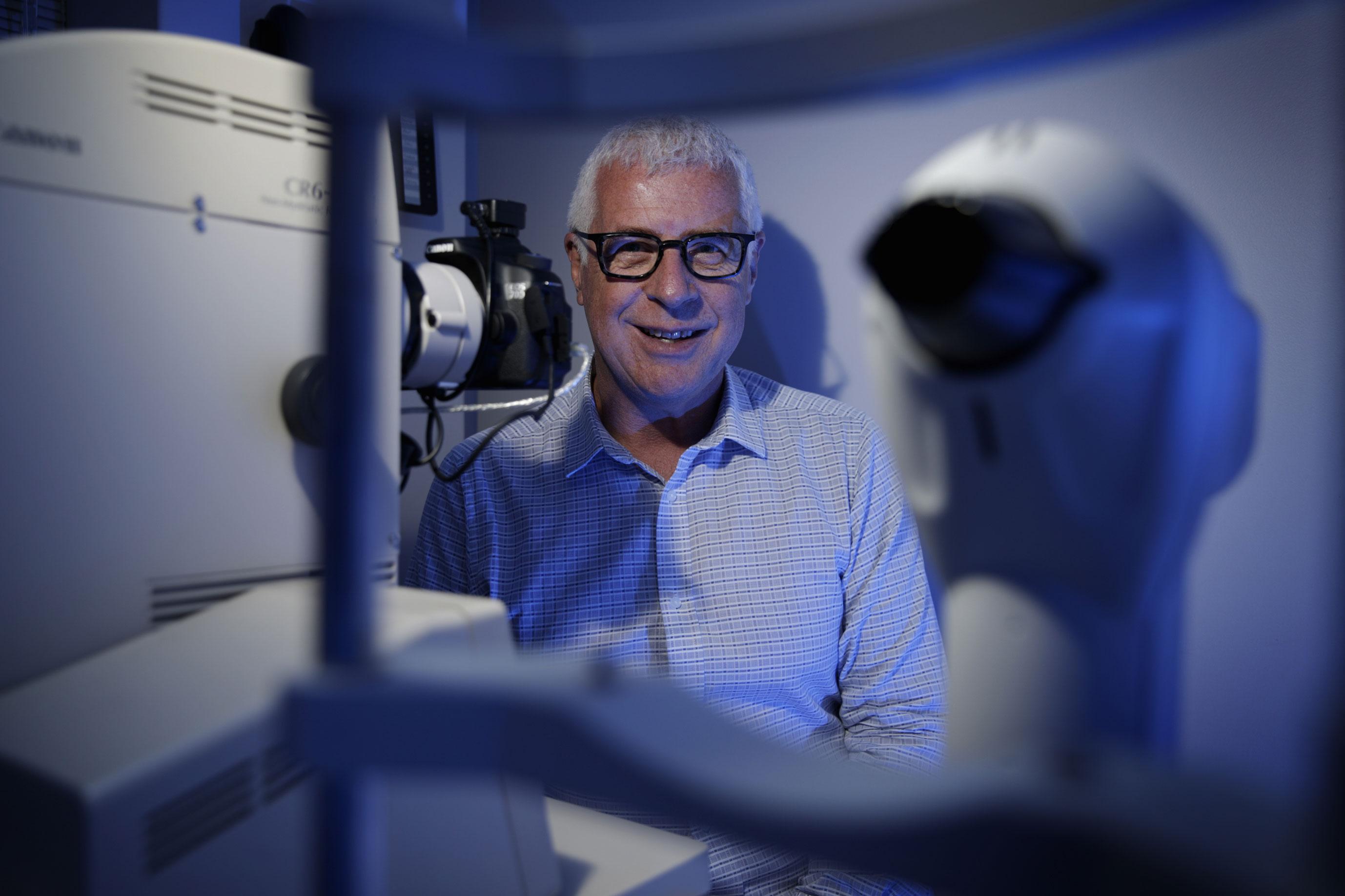 Optician Paul Clarke.