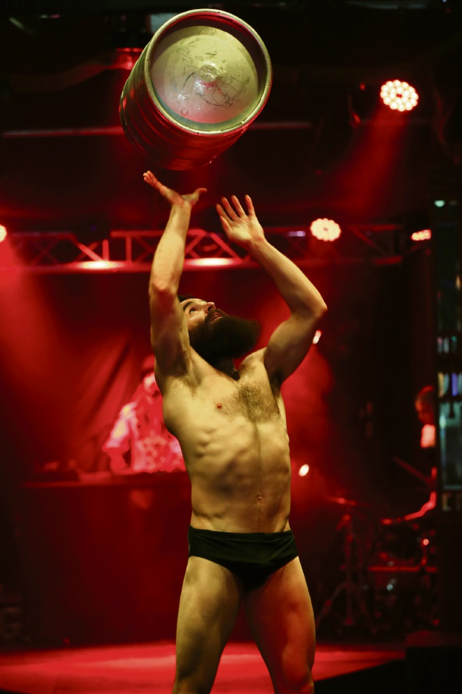 A performer in action during Fringe show BARBU. Picture: Andrew Ritchie www.communitypix.com.au   d464283