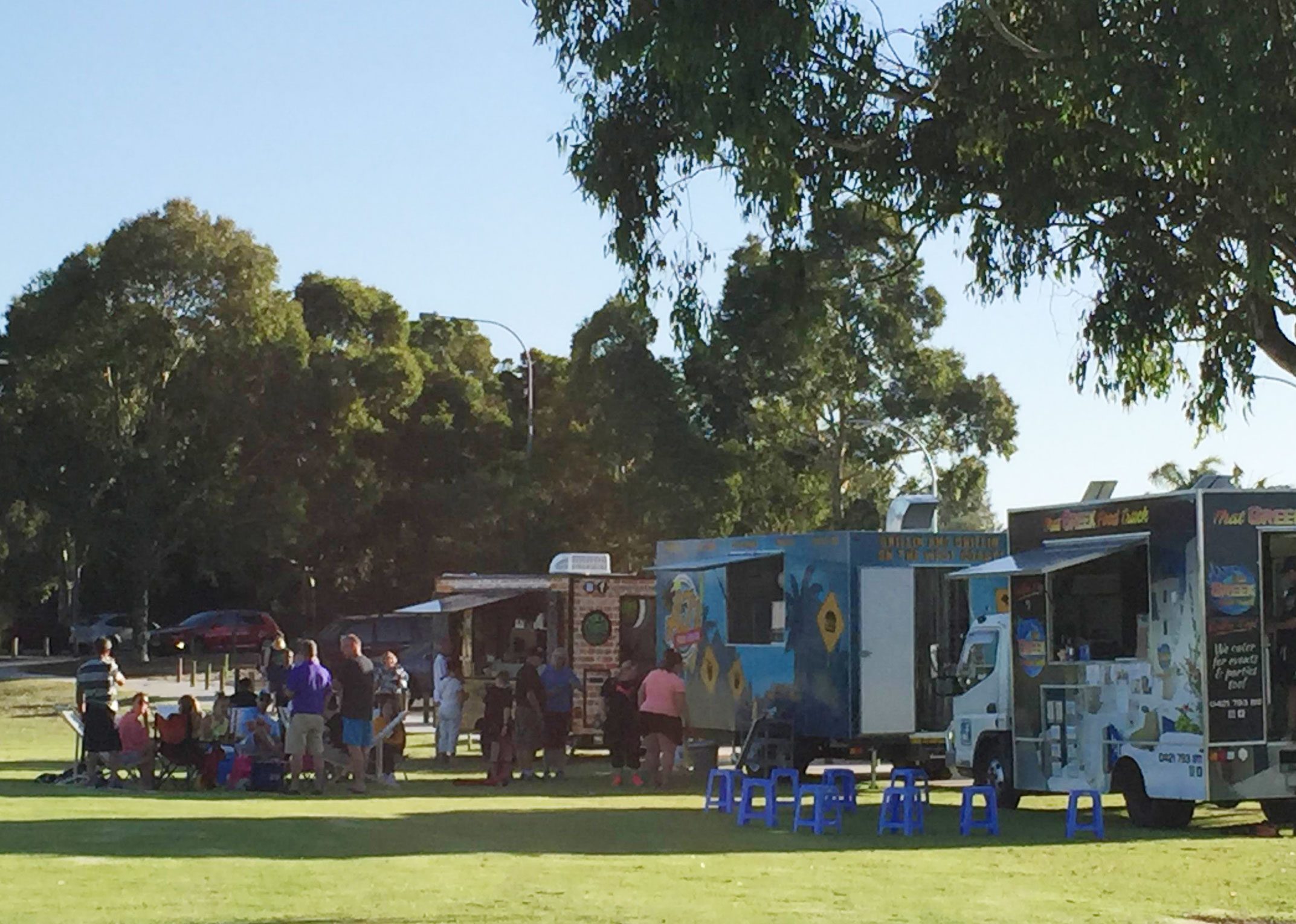 The City of Wanneroo's trial of food trucks in parks has proven to be popular with families.
