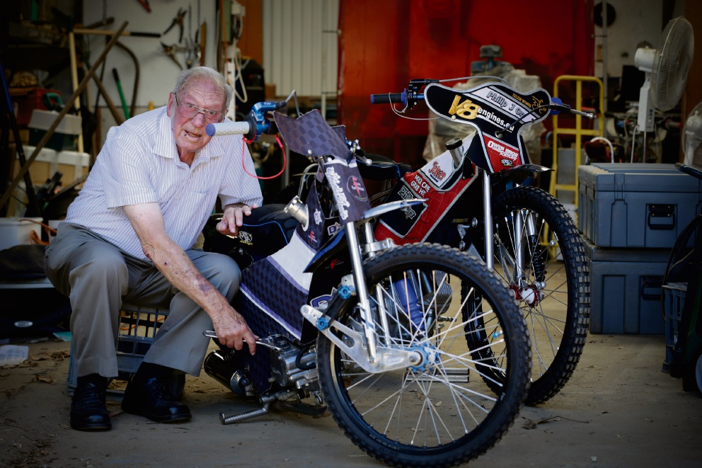 A brilliant life: Embleton resident Colin Philippson has been awarded an OAM for his contribution to the community and to motor racing.  Picture: Andrew Ritchie  d464540