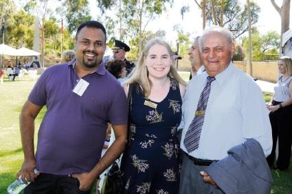 Dr Ganesa Ponraja, Cr Christine Hamilton-Prime and Nicolas Trandos.