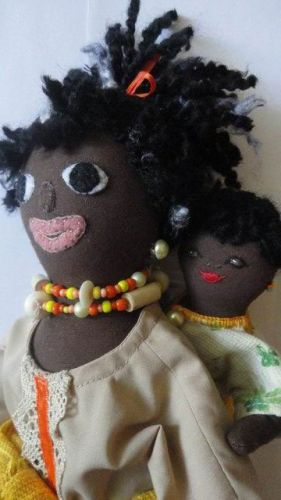 A group is making dolls like these for children affected by Aids in Africa
