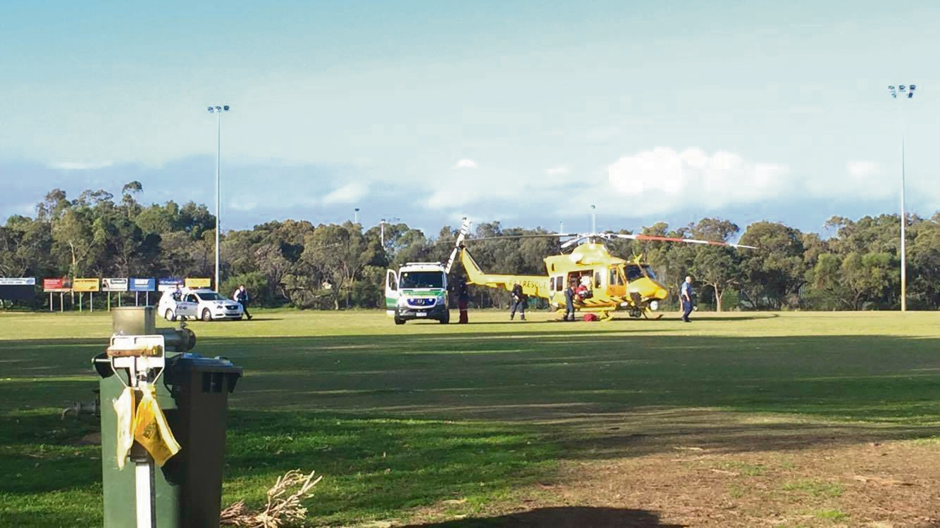 RAC Rescue chopper airlifts man after Falcon incident