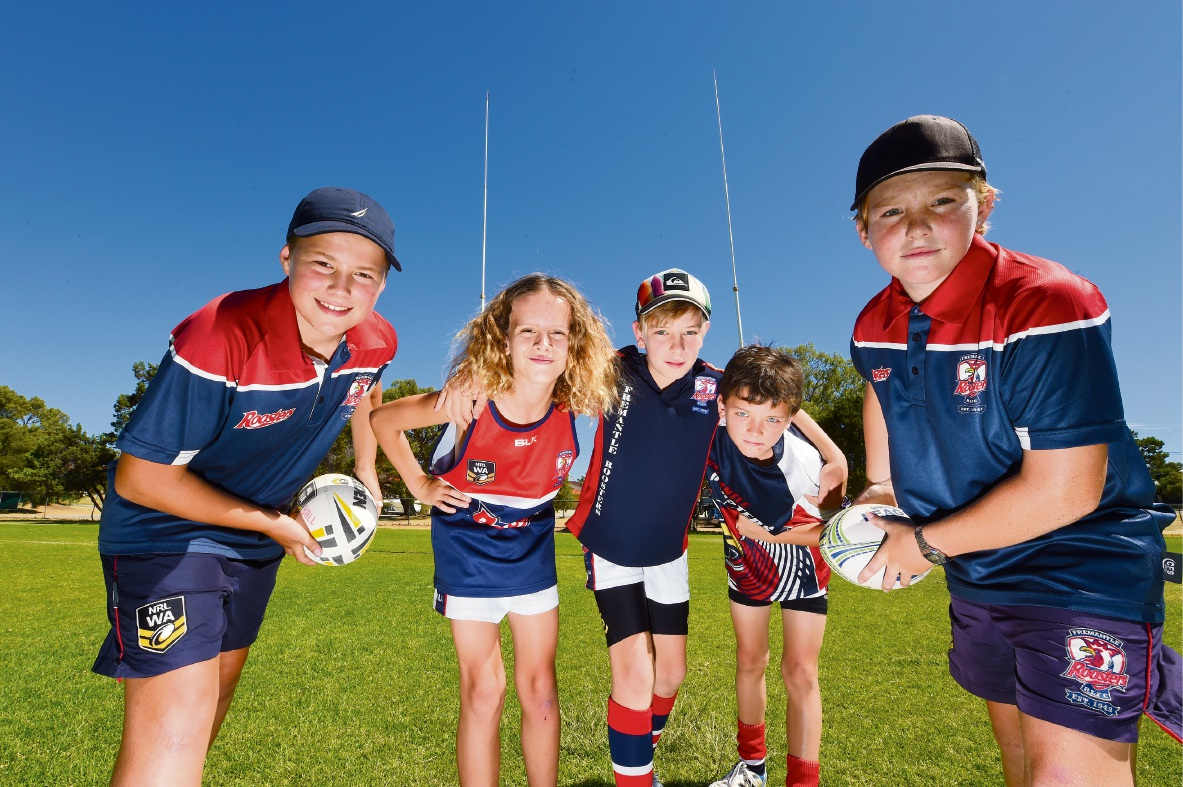 Try before you buy at Fremantle Roosters Junior Rugby League day