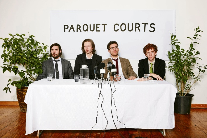 Parquet Courts – Andrew Savage (second from right).