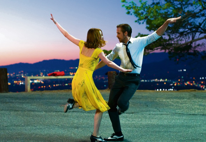 Emma Stone and Ryan Gosling star in La La Land.