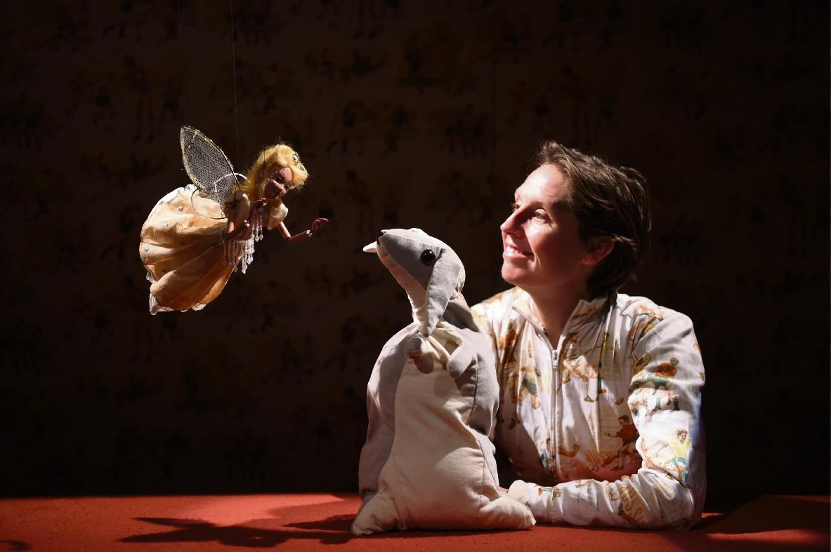 Performer Bec Bradley with Fairy and Velveteen Rabbit. Picture: Jon Hewson