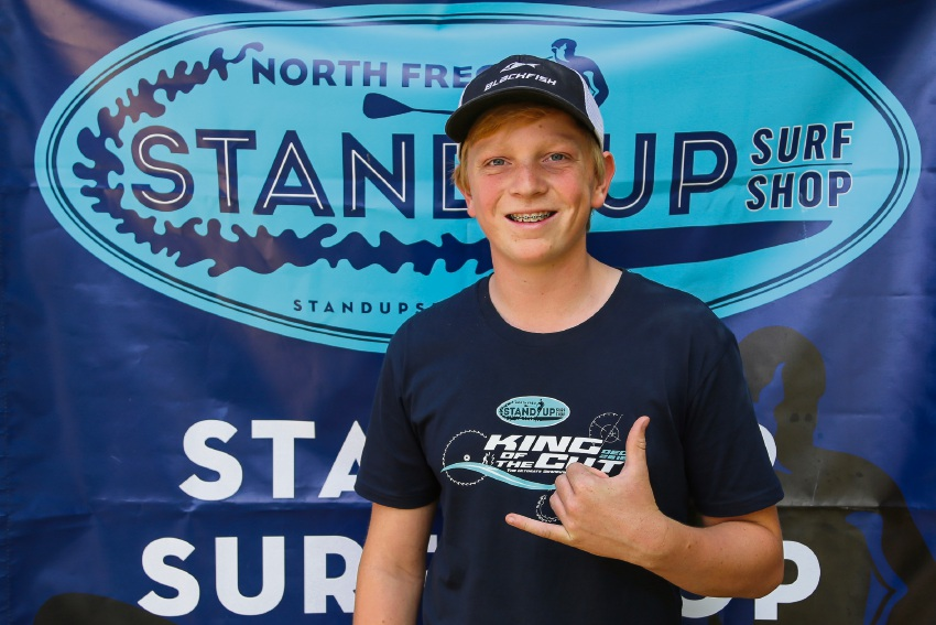 Melville Senior High School student Sam McCullough has a bright future in the sport of stand up paddle boarding.