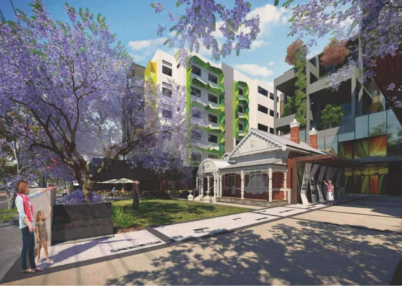 Artists impression of the proposed Rosewood redevelopment.