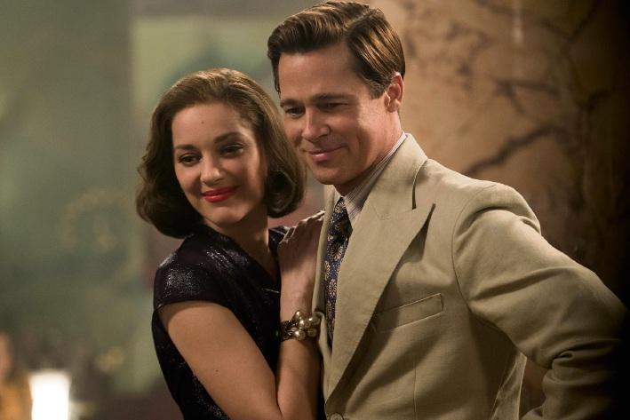 Marion Cotillard and Brad Pitt in Allied.