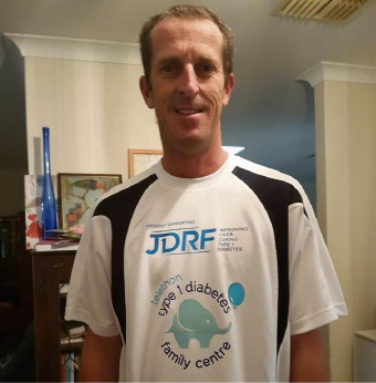David Tams will be running (or crawling) around a running track for 24 hours to raise money for diabetes research.
