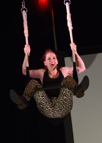 Jess Love swings dangerously in this year's Fringe World