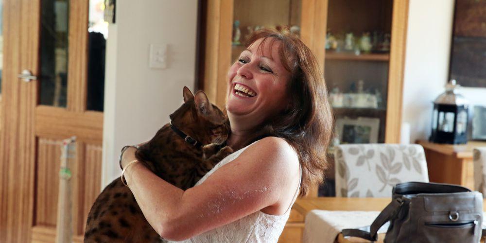 Helen Mansell (Mindarie) with Rafiki. Picture: Martin Kennealey d464866