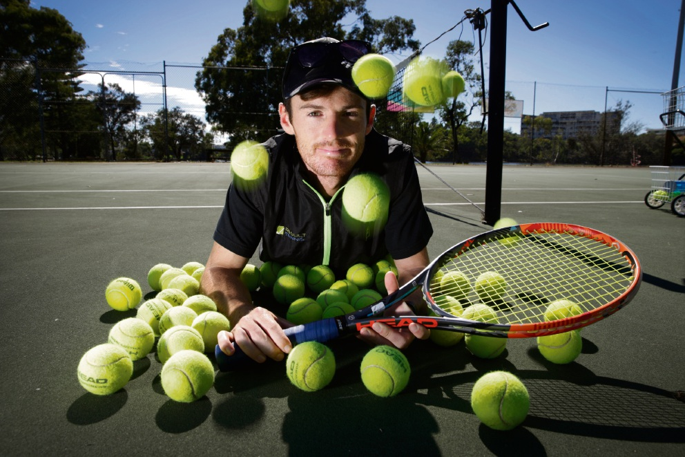 Jack Baldwin Maylands Tennis Club first full-time coach in five years.  Picture: Andrew Ritchie www.communitypix.com.au   d464604