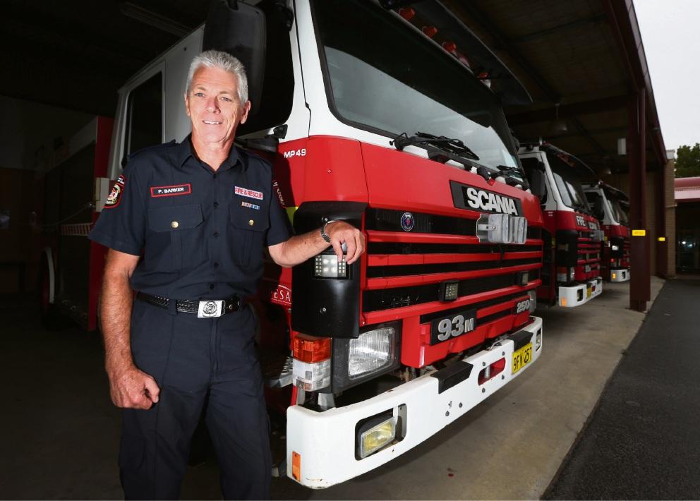 Long-serving firefighter Paul Barker. Picture: Matt Jelonek d464765
