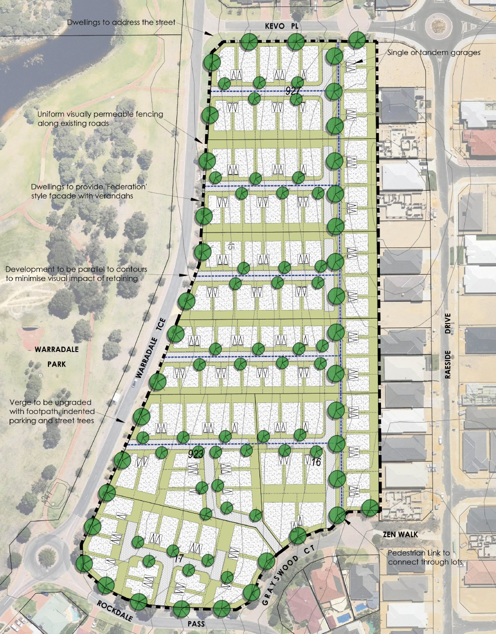 Plans for the proposed development in Landsdale.