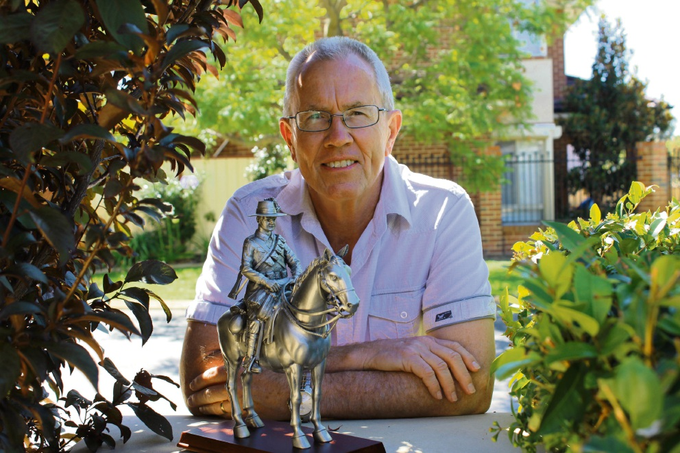 Military historian Wayne Gardiner enters Australia Day history books as well