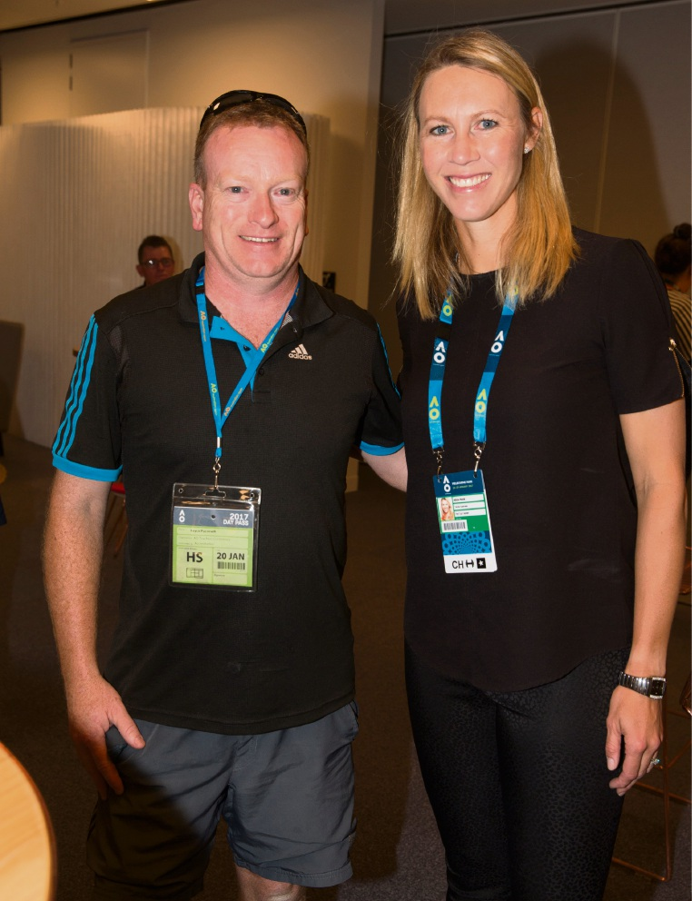 Royce Puccinelli with Alicia Molik.