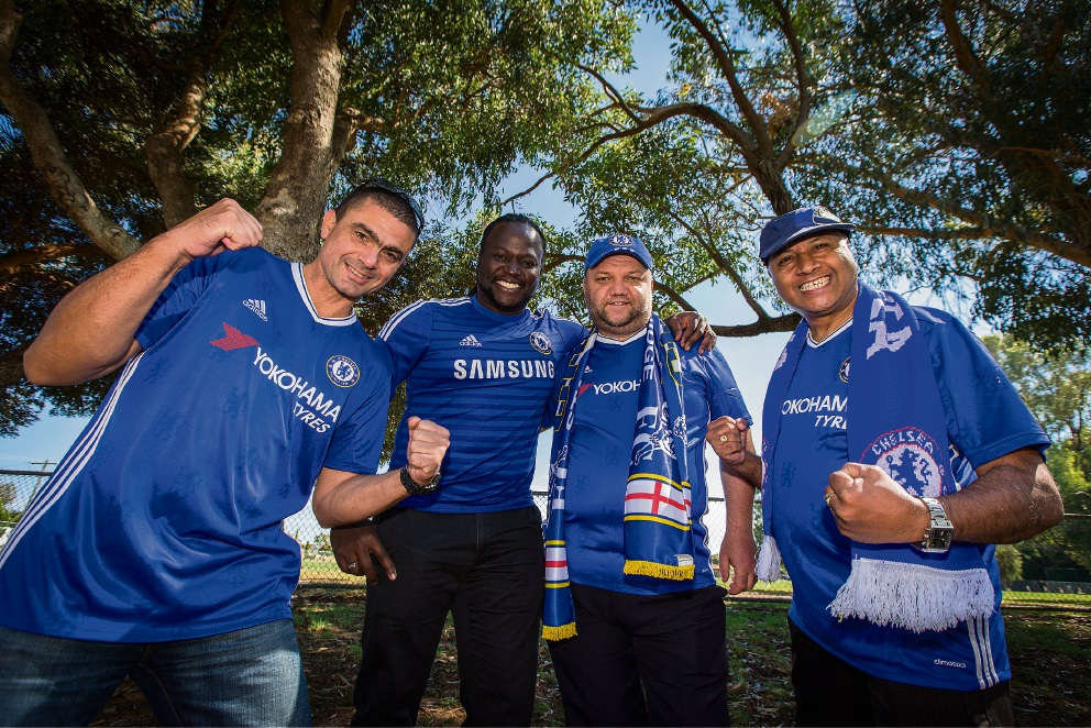 Mark Nelson, James Ngoroyemoto, Mickey Danilov and Ossie Pereira. Picture: Will Russell    d464799