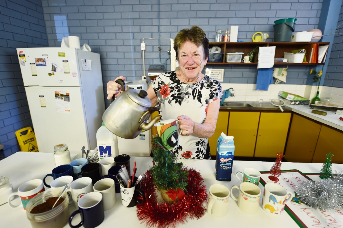 Pat Hoefer has poured her final cup of tea after 40 years at Lynwood Senior High School. Picture: Jon Hewson