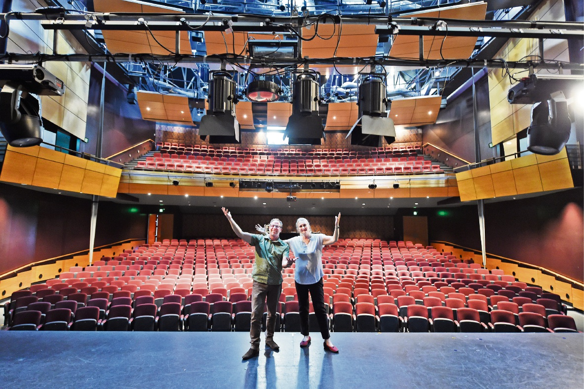 Mandurah Performing Arts Centre chief executive Guy Boyce and operations manager Pippa Davis. Picture: Jon Hewson