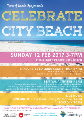 Celebrate City Beach this Sunday evening