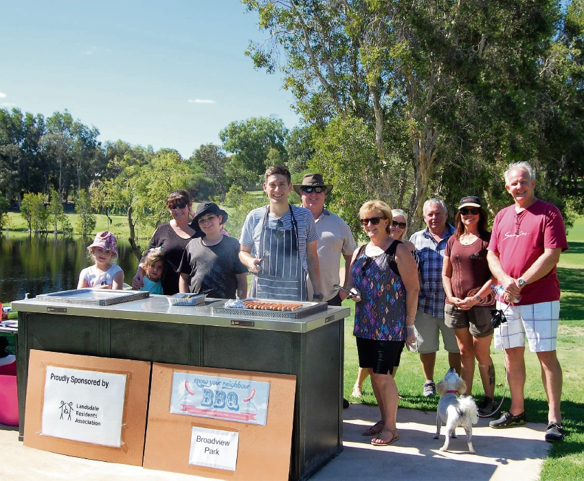 Landsdale Residents' Association barbecues helping neighbours bond